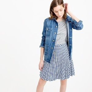 🆕}Listing} J.Crew Gingham Pleated Mini Skirt